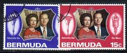 APR642 - BERMUDA 1972, Serie Yvert N. 284/285  Usata  (2380A) . Silver - Bermuda