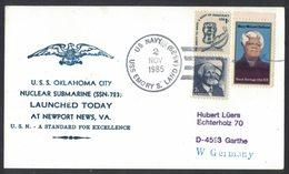AN89  USA 1985 Cover US Navy / USS Oklaoma City Nuclear Submarine SSN-723 - Stati Uniti