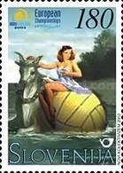 ESLOVENIA 2003 - SLOVENIE - CAMPEONATO DEL MUNDO DE WATERPOLO - YVERT Nº 393** - Wasserball
