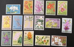 Barbados 1974 Orchid LOT - West Indies