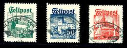 25 Oere Bis 1 Krone Legionärsmarken, Tadellos Gestempelt Mit Feldpost-Normstempel, Mi. 1.500.-, Katalog: I/III O - Dänemark