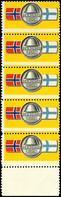 """Vignette """"Den Norske Legion"""", Seltene Einheit Zu 5 Werten Vom Unterrand, Tadellose Erhaltung, Mi. Feldpost-Handbuch -.-  - Dänemark"""