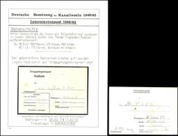 1943, Interniertenpost, KGF-Postkartenvordruck Aus Lager 34 Ins KGF-Lager Nach Biberach/Riß Sowie Internierten-Faltbnief - Besatzungsgebiete In Deutschland