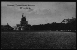 Ansichtskarte Handstempel Windau Ventspils Kurland Lettland Feldpost St. 168 N. - Lettland