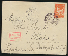 Bulgarien Flugpost Brief Nach Prag Tschechoslowakei 6.9.1935 - Bulgaria