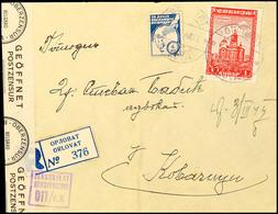 Mehrfachfrankatur über 1 Din.(9) Mit Teilweiser Frankierung Auf Der Briefrückseite Auf Portogerechtem Inlands-R-Brief Na - Besatzungsgebiete In Deutschland