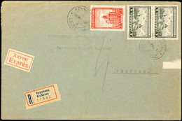 Mischfrankatur Aus 1 Din. Mit 7 Din.(2) Auf Portogerechtem Inlands-Eil-R-Brief Nach Belgrad Mit Aufgabe-Stpl. KRUSEVAC/2 - Besatzungsgebiete In Deutschland