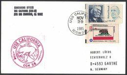 AN92  USA 1985 Cover US Navy / USS California CGN-36 - Stati Uniti