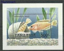 Tanzania 1992 Mi Bl 192 MNH ( ZS4 TNZbl192 ) - Fishes