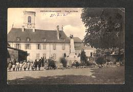 21 - PONTAILLER Sur SAÔNE - Place De L'École - 1925 - Francia