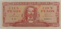 Billet De Cuba 100 Pesos 1961 SPECIMEN Pick 99s Neuf/UNC Signé Par Le Che - Cuba