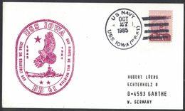 AN94  USA 1985 Cover US Navy / USS Iowa BB-61 - Etats-Unis