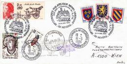 FRANCE - 1986 - Conseil De L'Europe - Lettre De Nevers Pour Vienne Puis Strasbourg En Poste Rest. - Congrès - France