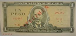 Billet De Cuba 1 Peso 1969 SPECIMEN Pick 102s Neuf/UNC - Cuba