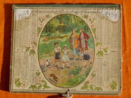 Calendrier 1937 Oberthur Rennes , Pages Intérieures Manquantes. - Calendars