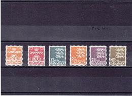 DANEMARK 1971-1972 Série Courante  Yvert 518-523 NEUF** MNH Cote : 15 Euros - Danemark