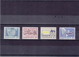DANEMARK 1971 SPORTS  Yvert 525-528 NEUF** MNH - Danemark