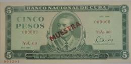 Billet De Cuba 5 Pesos 1984 MUESTRA Pick CS19 Neuf/UNC - Cuba