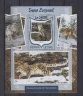 W636. Sierra Leone - MNH - 2016 - Fauna - Wild Animals - Snow Leopards - Bl - Autres