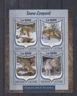 W636. Sierra Leone - MNH - 2016 - Fauna - Wild Animals - Snow Leopards - Autres