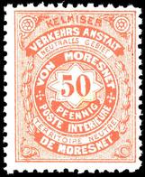 LOKALAUSGABEN: Moresnet, 1886, 1 Sowie 3 - 50 Pfg (lediglich Die 2 Pfg Hellblau Fehlt) Komplett, Tadellos Postfrisch, Un - Belgien