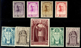"""1932, 10 C. Bis 10 Fr. """"Wohltätigkeitshilfe"""", Kompletter Satz Mit 9 Werten, Tadellos Ungebraucht - Bei Einigen Werten Gu - Belgien"""