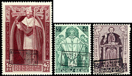 1932, 10 C. Bis 10 Fr. Wohltätigkeitsausgabe Mit Aufdruck, Kompletter Satz Mit 9 Werten, Tadellos Postfrisch, Fotoattest - Belgien