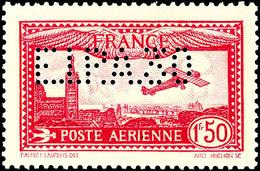 """1,50 Fr. """"Flugzeug über Der Kirche Notre Dame In Marseille"""", Lilarot Mit Lochung """"E.I.P.A 30"""" Anlässlich Der Flugpostaus - Frankreich"""