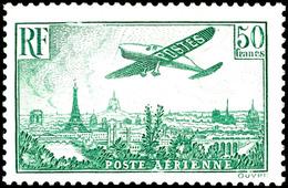 85 C. - 50 Fr. Flugpost Kpl., Ungebraucht, Pracht, Katalog: 305/11a * - Frankreich