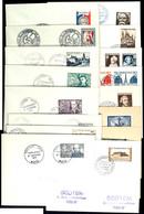 1951, 17 Werte Ex MiNr. 900/36 Einzeln Auf FDCs Mit Entsprechenden ESST, Nach Paris Adressiert, Tadellos, Yvert-Kat.-Wer - Frankreich