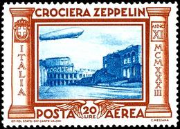 3 L. - 20 L. Zeppelin Kpl., Postfrisch, Pracht, Katalog: 439/44 * - Italien