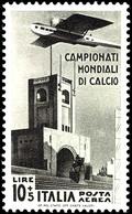 75 C. - 10 L. Fußball WM -Flugpostmarken Kpl., Postfrisch, Pracht, Katalog: 484/87 ** - Italien
