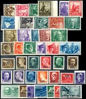 1938 - 1943, 10 C. - 5 L. Proklamation Des Italienischen Imperiums Sowie 10 C. - 1,25 L. Waffenbrüderschaft Sowie Militä - Italien