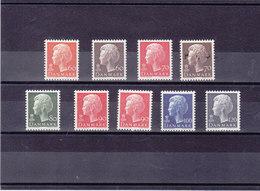DANEMARK 1974 REINE Yvert 567-572 + 579-581 NEUF** MNH - Danemark