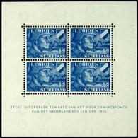 1942, Blockausgabe 12 1/2 C. Legion, Tadellos Postfrisch, Unsigniert, Mi. 100.-, Katalog: Bl.2 ** - Niederlande