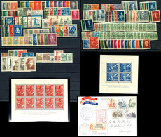 1925/56, 28 Postfrische Ausgaben Ab Mi. 164/66 Bis 672/76, Dabei U.a. 357/74, Block 1/2, 477/89, 500/02, 525/39, 558/62, - Niederlande