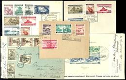Ausgaben Der Exilregierung Mi. 360/67 Auf Satzbrief, Mi. 368/79 Auf Unterlage, Dazu Bl. 5A Auf FDC Und Ein Brief Mit Bri - Polen