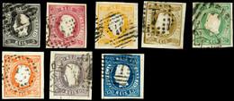 5 R. - 120 R. Luis I., Klar Gest. Und Voll-/breitrandig, Tadellos, Mi. 750,-, Katalog: 17/24 O - Portugal