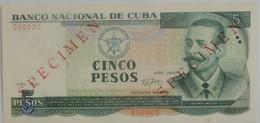 Billet De Cuba 5 Pesos 1991 SPECIMEN Pick CS25 Neuf/UNC - Cuba