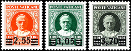 40 C. Bis 3.70 L. Aufdruck Auf Papst Pius XI., Kompletter Satz Mit 6 Werten, Tadellos Postfrisch, Gepr. Diena (bis Auf D - Vatikan