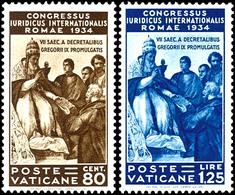 """1935, 5 C. Bis 1,25 Lire  """"Juristenkongress"""", Kompletter Satz Mit 6 Werten, Tadellos Postfrisch, Mi. 800.-, Katalog: 45/ - Vatikan"""