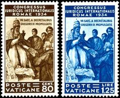 """1935, 5 C. Bis 1,25 Lire """"Juristenkongress"""", Kompletter Satz Mit 6 Werten, Tadellos Postfrisch, Mi. 800.-, Katalog: 45/5 - Vatikan"""
