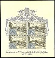 1952, Blockausgabe 100 Jahre Briefmarken, Tadellos Postfrisch, Unsigniert, Mi. 250.-, Katalog: Bl.1 ** - Vatikan