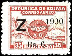 1,50 B Auf 5 C. Bis 6 B Auf 35 C. Zeppelinausgabe Kpl. Ungebraucht, Pracht, Katalog: 185/87 * - Bolivien