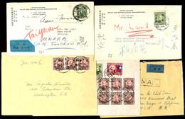 1945 - 1947, 5 Interessante Briefe, Meist In Die USA, Teils Luftpost, Katalog: 659,u.a. BF - Bloomington