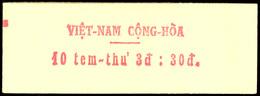 1967, Postdarstellung, Tadellos Postfrisches Markenheftchen (geschlossen), Mi. 250,--, Katalog: A 398MH ** - Vietnam