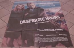 AFFICHE CINEMA ORIGINALE FILM DESPERATE HOURS LA MAISON DES OTAGES CIMINO HOPKINS ROURKE 1990 TB DESSIN - Affiches & Posters