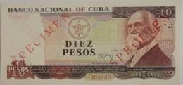 Billet De Cuba De 10 Pesos 1991 SPECIMEN Pick CS25 Neuf/UNC - Cuba