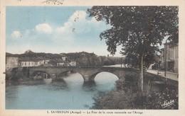 CPA - France - (09) Ariège - Saverdun - Pont De La Route Nationale Sur L'Ariège - Other Municipalities