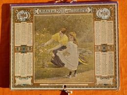 Calendrier 1898 Oberthur Rennes , Pages Intérieures Manquantes . Doux Soleil , Tableau De Royer - Calendars